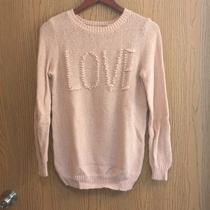 Neutral pink sweater